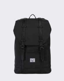 Herschel Supply Retreat Mid-Volume Black/Black Synthetic Leather