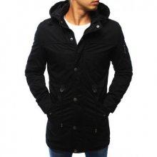 Pánská zimní bunda - parka černá