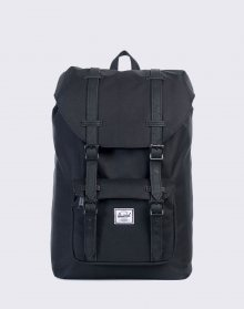 Herschel Supply Little America Mid-Volume Black/Black Synthetic Leather