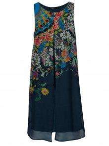 Tmavě modré vzorované šaty Desigual Candice