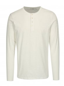 Krémové tričko s dlouhým rukávem Jack & Jones Wolfsburg