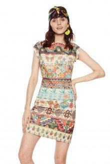 Desigual barevné šaty Elvira - S
