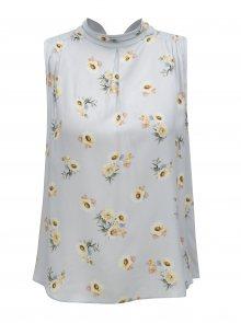 Světle modrá květovaná halenka Dorothy Perkins Petite