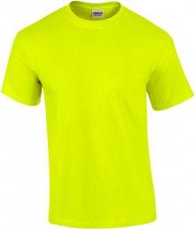 Tričko Gildan Ultra - Neonová žlutá S