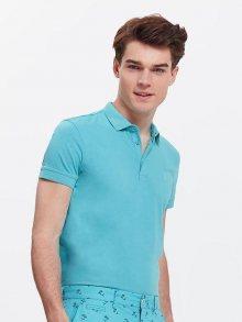 Polo tričko modrá M