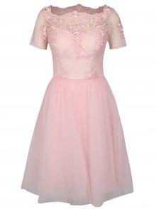 Růžové šaty Chi Chi London Krizia
