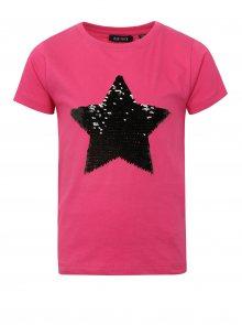 Růžové holčičí tričko s magickými flitry Blue Seven