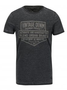 Tmavě šedé slim fit tričko s krátkým rukávem Blend