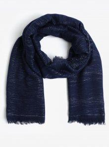 Tmavě modrý třpytivý šátek Pieces Dalissa