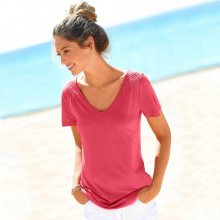 Blancheporte Jednobarevné tričko s výstřihem do \