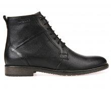GEOX Pánské kožené boty Jaylon Black U74Y7C-00046-C9999 43