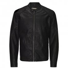 Jack&Jones Pánská bunda Jororiginals Pu Jacket Noos Black S