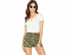 Forever 21 Dámské šortky Ornate Print Woven Shorts - zelené S