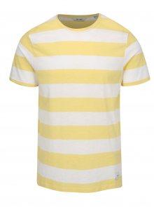 Bílo-žluté pruhované tričko ONLY & SONS Dontell
