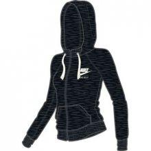 Nike W Nsw Gym Vntg Hoodie Fz černá S