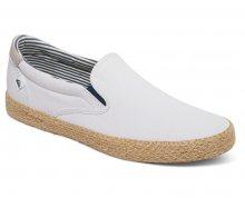 Quiksilver Pánské tenisky Shorebreak Slip-on Esp White/White/Brown AQYS300056-XWWC 42