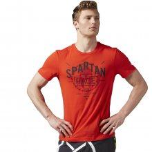 Reebok Spartan Race Bi-Blend Tee červená M