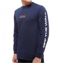 VANS Pánské triko Side Waze Ls Navy VA36GBNVY L
