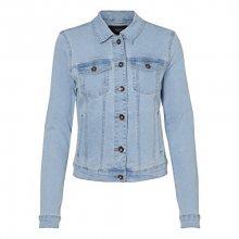 Vero Moda Dámská bunda Hot Soya Ls Denim Jacket Mix Noos Light Denim Blue XS