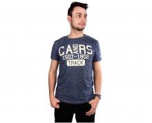 Cars Jeans Pánské modré tričko s potiskem Arjo Navy 4058211 M