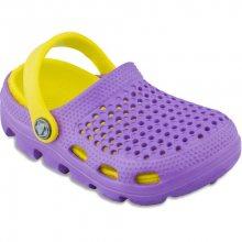 Coqui Dětské sandále Bugy 6101 Lila/Yellow 100175 26-27