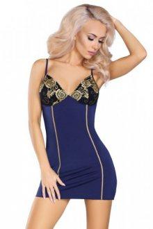 LivCo Corsetti Sydney dámská košilka L/XL tmavě modrá-zlatá