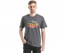 Meatfly Triko Bugler T-shirt B - Heather Charcoal S
