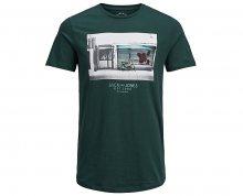 Jack&Jones Pánské tričko Jorlever Tee Ss Crew Neck Ponderosa Pine S