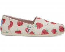 TOMS Dámské Slip-On Birch Strawberry and Cream Alpargata 37