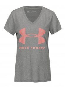 Šedé dámské funkční tričko s potiskem Under Armour Siro Graphic