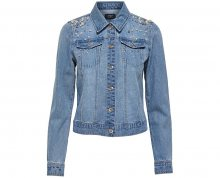 ONLY Dámská bunda Chris Ls Pearl Dnm Jacket Bj Medium Blue Denim 34