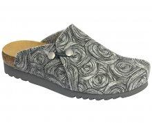 Scholl Dámské pantofle Maryssa Bioprint Grey/Black F266501080 37