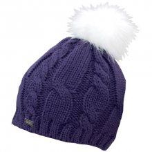 CAPU Zimní čepice s bambulí Purple 18413-A