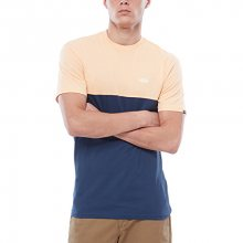 VANS Pánské triko Colorblock Tee Apricot Ice/Dress Blues VA3CZDPGH M