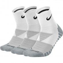 Nike U Nk Dry Cush Qtr 3Pr bílá L
