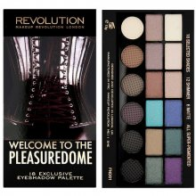 Makeup Revolution Limitovaná paletka 18 očních stínů Welcome to the Pleasuredome