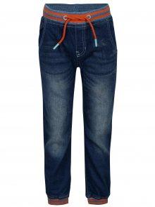 Modré klučičí kalhoty s elastickým pasem 5.10.15.