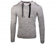 Jack&Jones Pánský svetr Jorhyper Knit Hood Grey Melange S