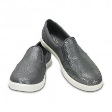 Crocs Dámské stříbrné tenisky CitiLane Sequin Slip-on Silver 204285-040 36-37