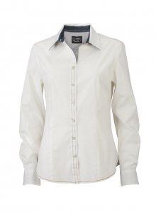 Dámská košile Casual - Bílá a temně modrá XS