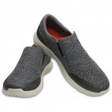 Crocs Pánské tenisky Crocs Kinsale Static Slip-on Charcoal/Pearl White 203977-01R 44-45