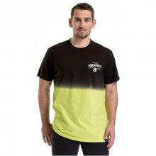 Meatfly Pánské triko Spill 2 T-shirt A-Safety Yellow, Black M