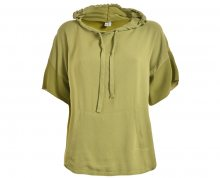 Deha Dámské triko Hoodie Sweet D73440 Golden Olive S