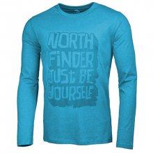 Northfinder Pánské triko s dlouhým rukávem Fausto Ocean TR3263SNW-4953 M