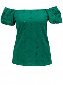 Zelené tričko s odhalenými rameny Dorothy Perkins