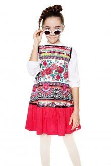 Desigual barevné dívčí šaty Monrovia