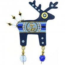 Deers Velká námořnická brož Pepinno II. s kotvou