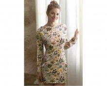 SELMARK Dámská noční košilka s květinami P01630-P09 S