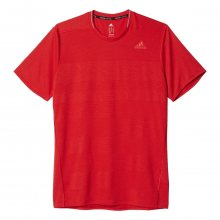 adidas Supernova Short Sleeve Tee Men červená L
