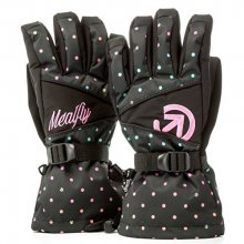 Meatfly Dámské prstové rukavice Destiny Gloves A - Rainbow Black Dot Print S